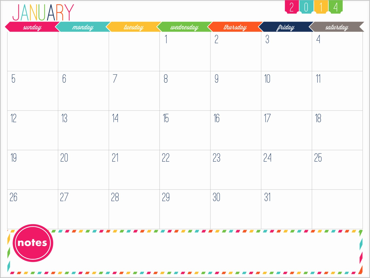 Free Printable 12 Month Calendar Best Of 12 Month Calendar Printable Prefilled for 2014 Instant