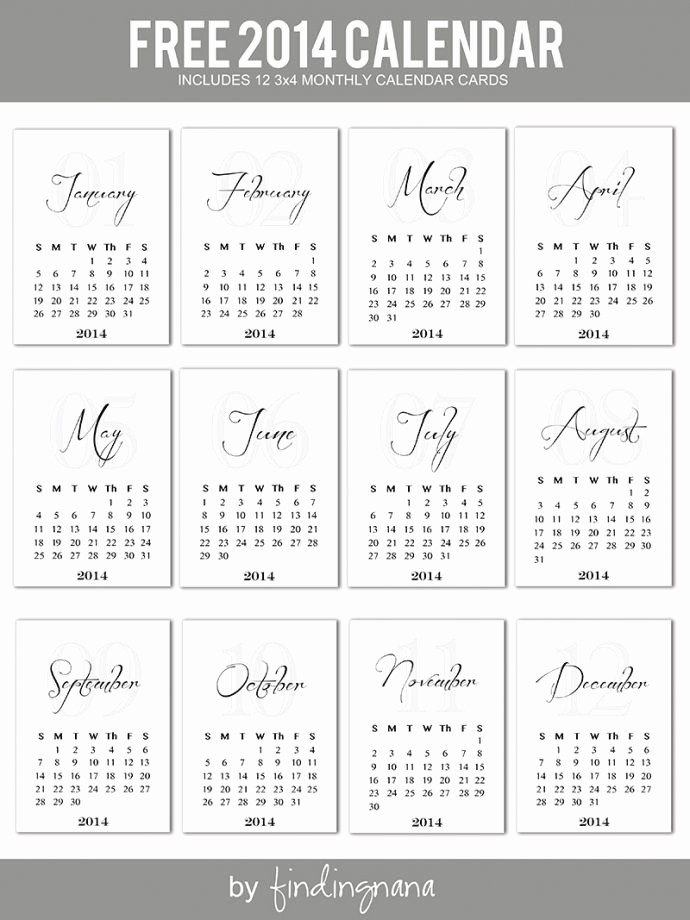 Free Printable 12 Month Calendar Best Of 25 Best Ideas About 2014 Calendar Printable On Pinterest