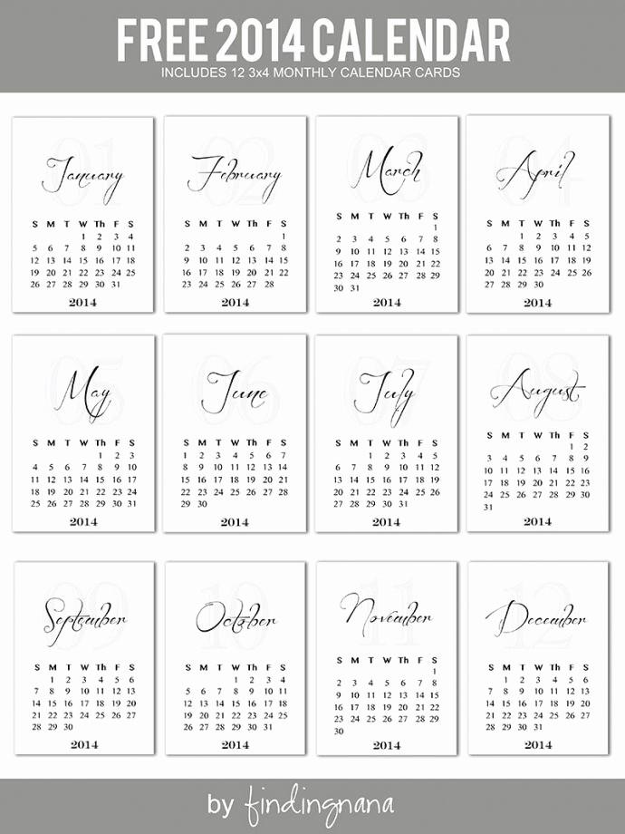 Free Printable 12 Month Calendar Best Of 25 Best Ideas About 2014 Calendar Printable On Pinterest