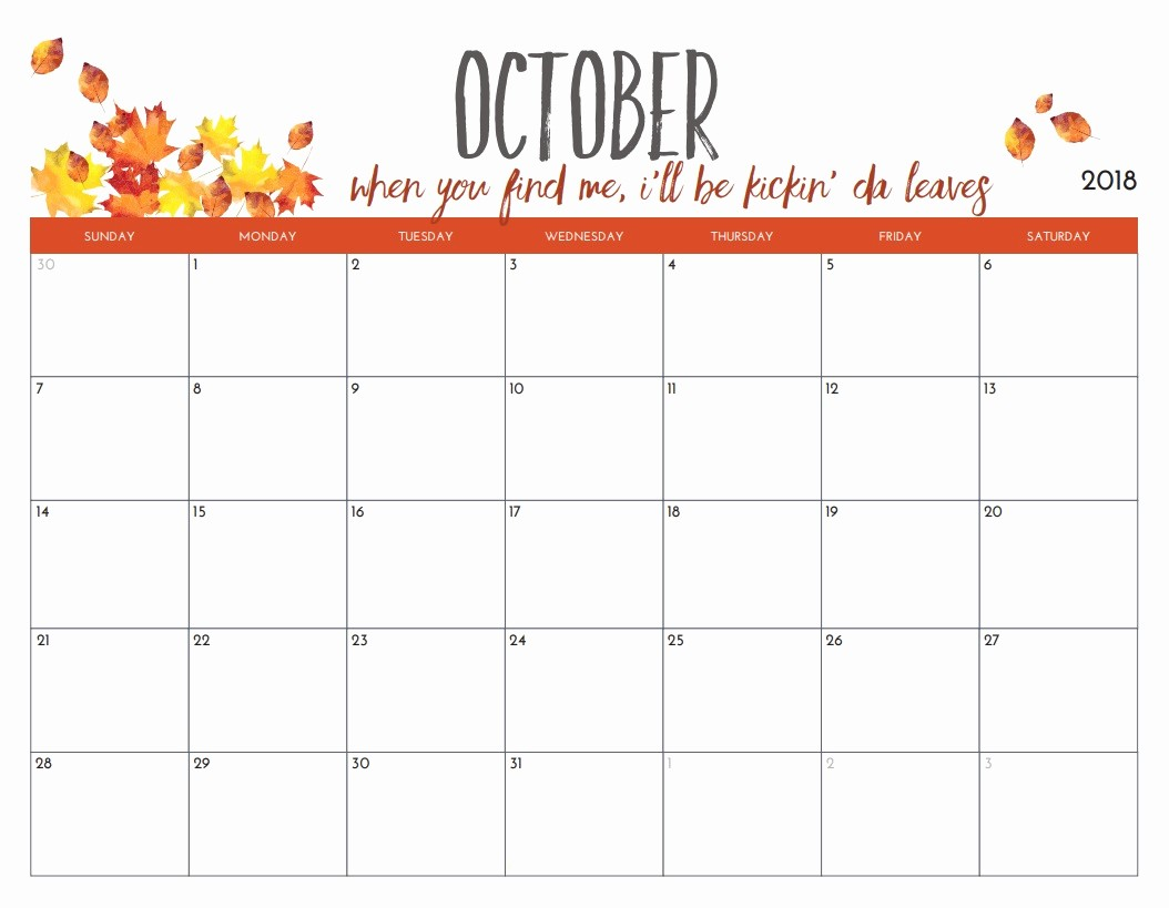 Free Printable 12 Month Calendar Best Of Free Printable 2018 Monthly Calendar
