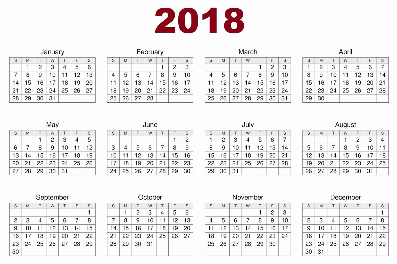 Free Printable 12 Month Calendar Fresh Download 12 Month Printable Calendar 2018 From January to