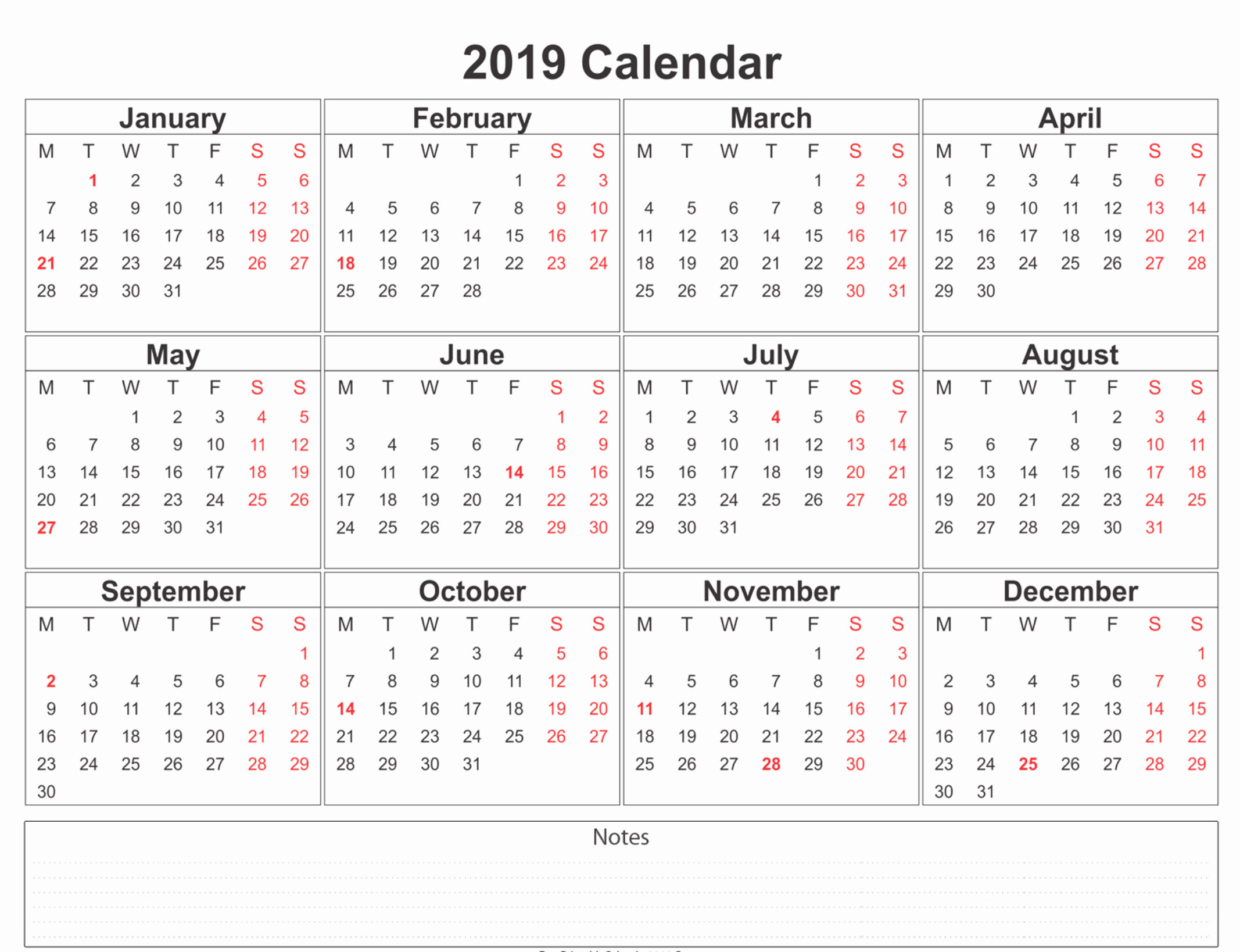Free Printable 12 Month Calendar Lovely 2019 Calendar Amazonaws