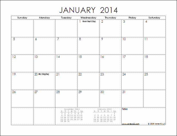 Free Printable 12 Month Calendar New 12 Month Calendar 2014 Printable to Pin On