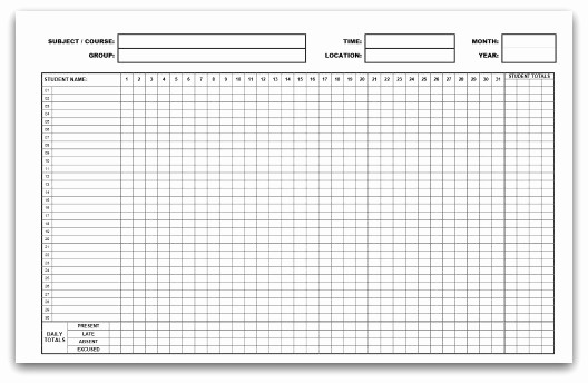 Free Printable 2016 attendance Calendar Awesome Printable attendance Calendars