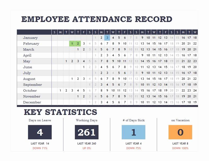 Free Printable 2016 attendance Calendar Fresh Printable attendance Calendar 2016 Employee attendance