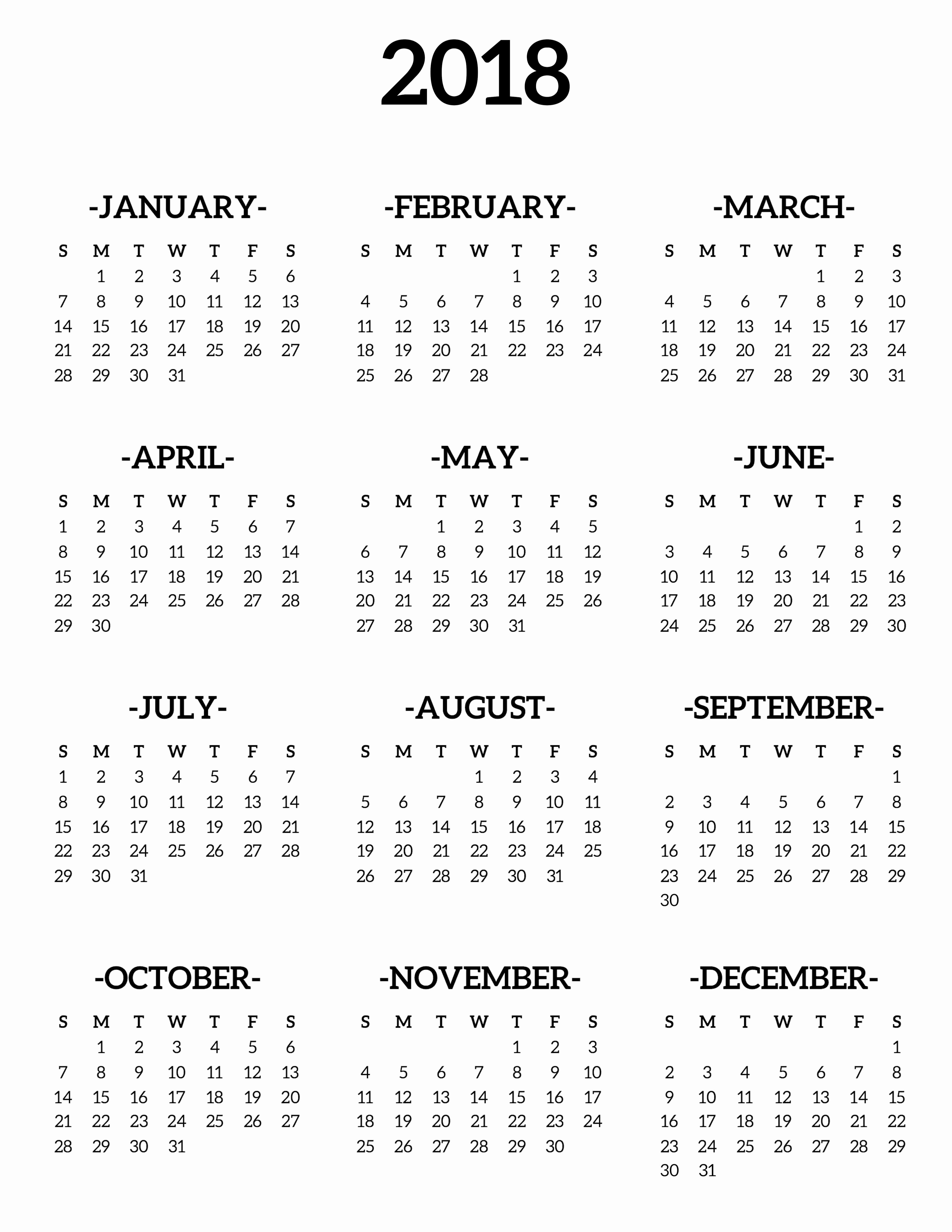 Free Printable 2018 Calendar Templates Beautiful Calendar 2018 Printable E Page Paper Trail Design