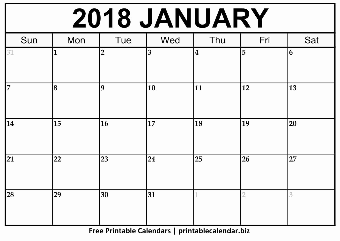 Free Printable 2018 Calendar Templates Best Of Printable 2018 Calendar 123calendars