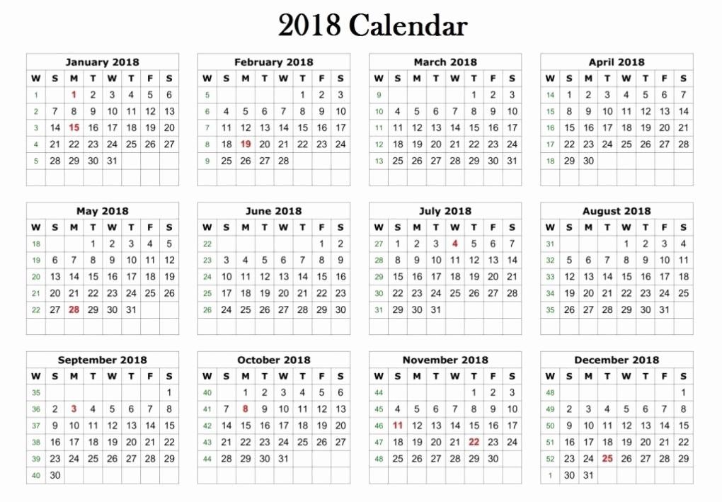 Free Printable 2018 Calendar Templates Inspirational 2018 Calendar Printable Template