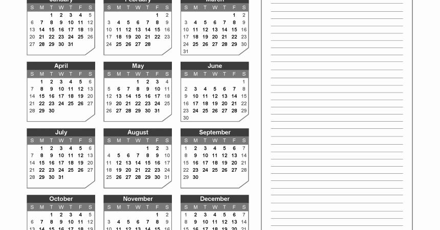 Free Printable 2019 Yearly Calendar Inspirational 2019 Yearly Calendar with Notes Printable Chamfer