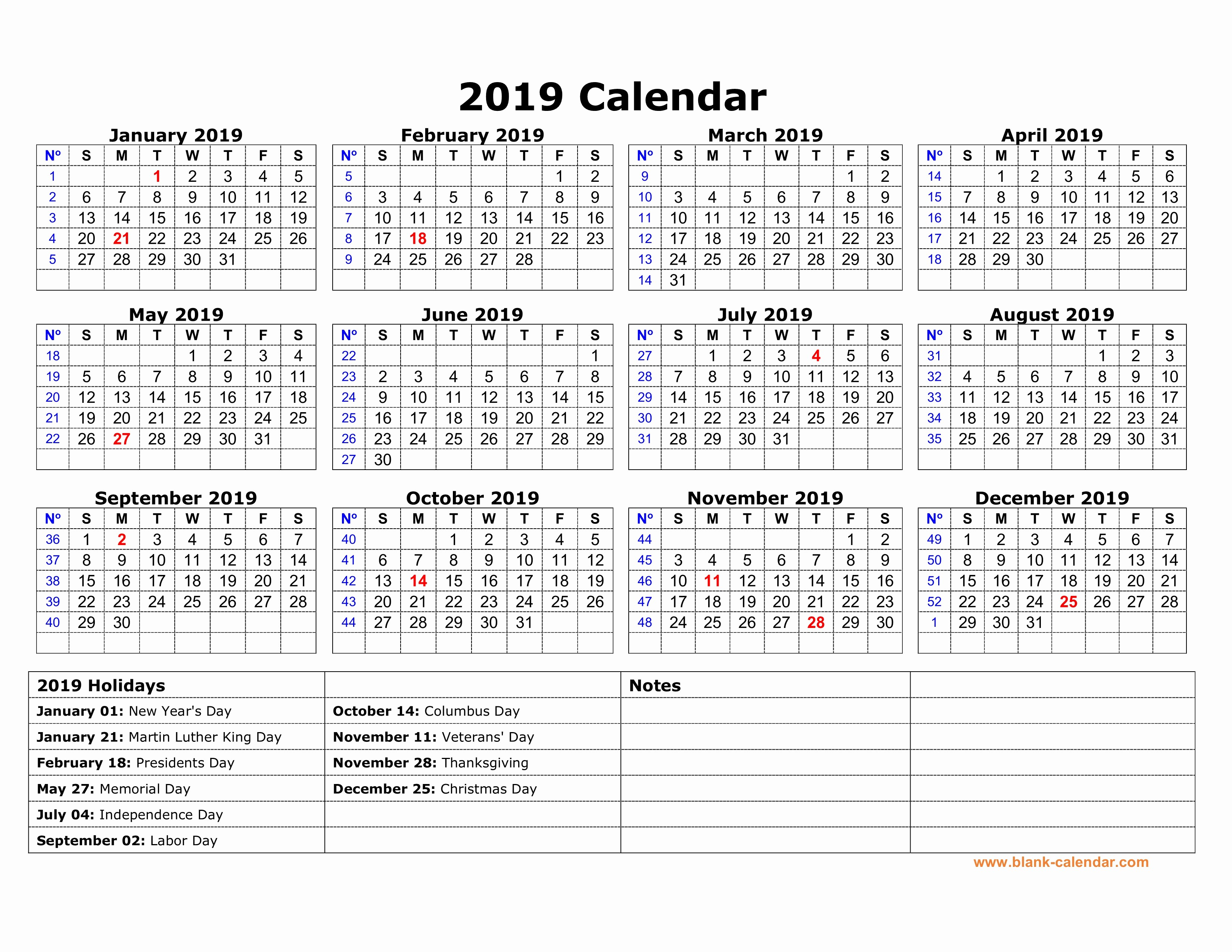 Free Printable 2019 Yearly Calendar Luxury Free Yearly Calendar Uk National Holidays 2019 Templates