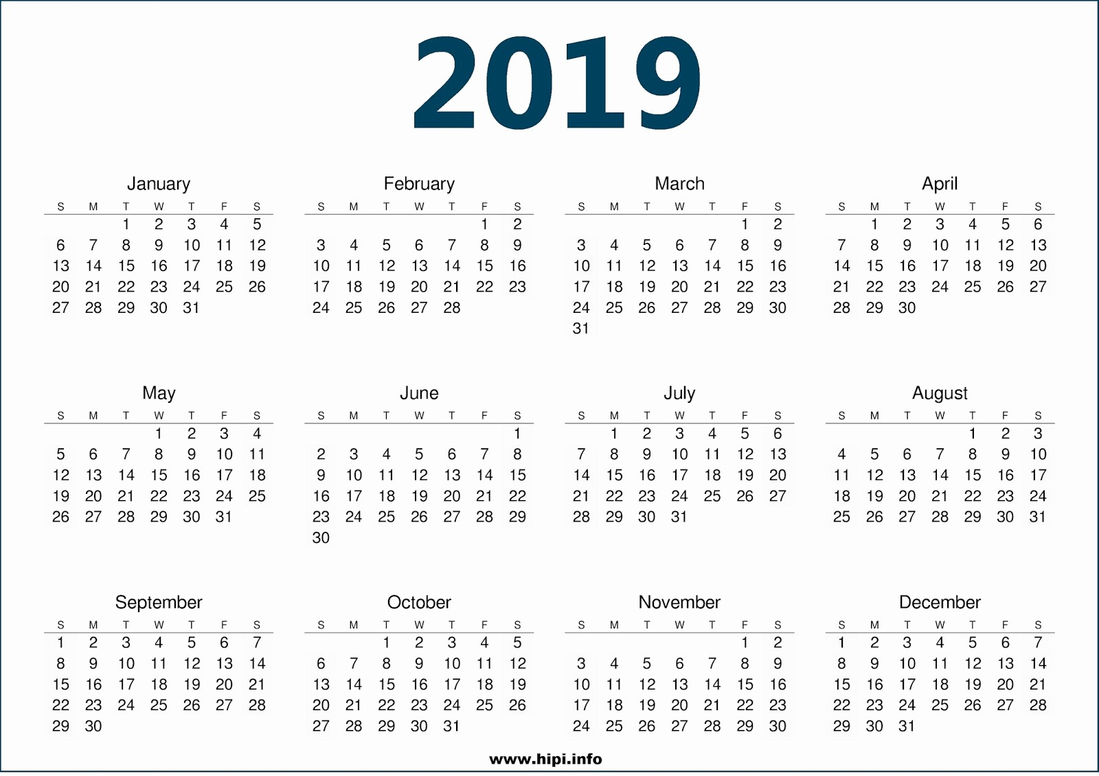 Free Printable 2019 Yearly Calendar Luxury Twitter Headers Covers Wallpapers Calendars