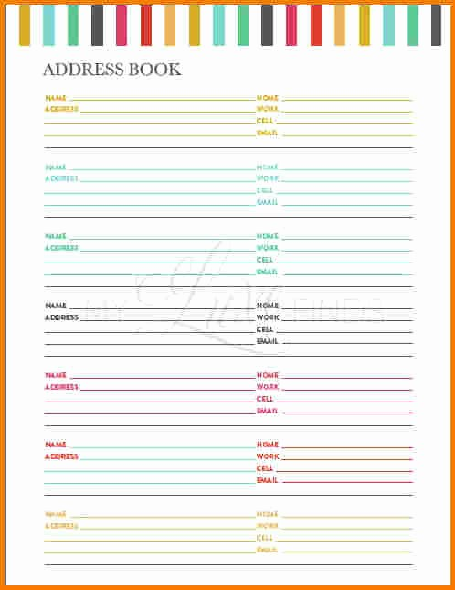 Free Printable Address Book Pages Beautiful Printable Address Book