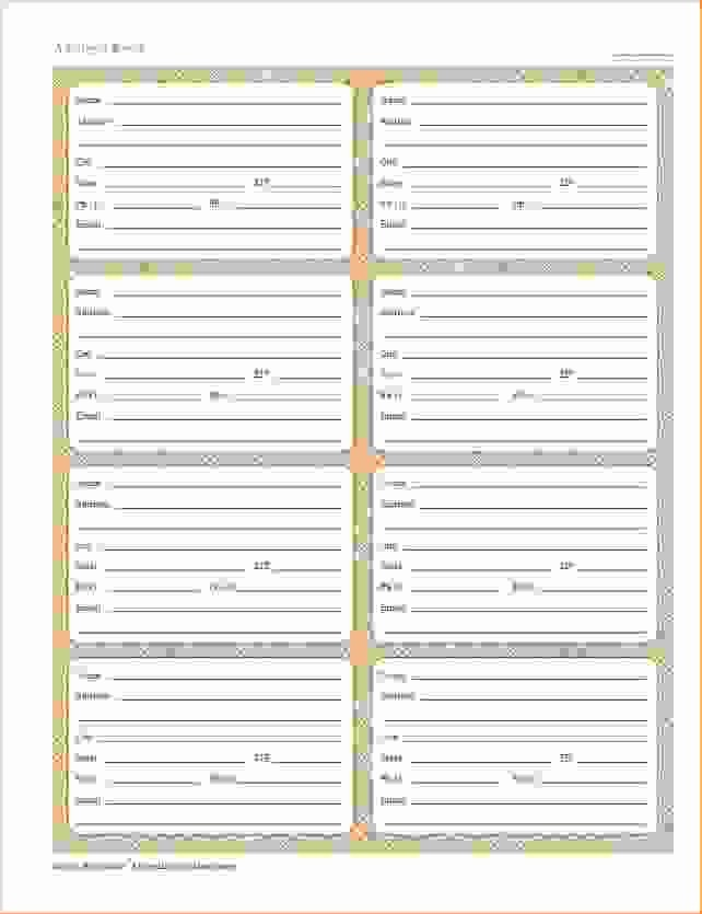 Free Printable Address Book Pages Best Of 6 Printable Address Book