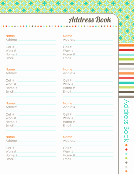 Free Printable Address Book Pages Inspirational organizing Planner the Harmonized House Project