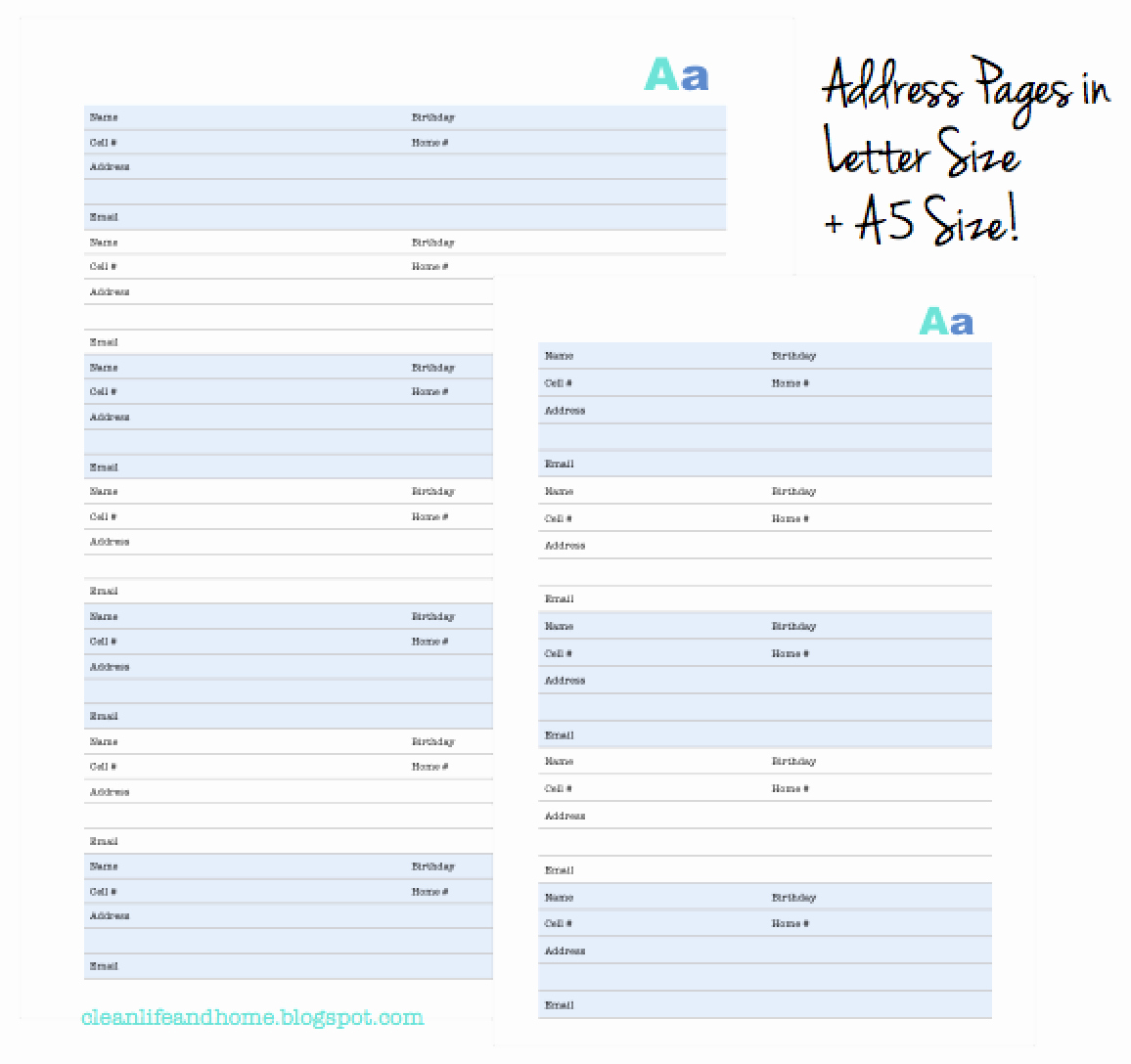 Free Printable Address Book Pages Luxury Clean Life and Home New Printable Address Book with Tabs