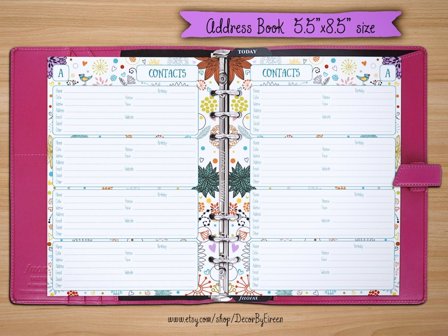 Free Printable Address Book Pages New Address Book Pages Printable Contact Sheets 5 5x8 5 Half
