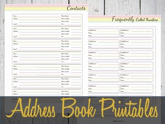 Free Printable Address Book Pages Unique Address Book Printable Pages Contacts Insert Discbound