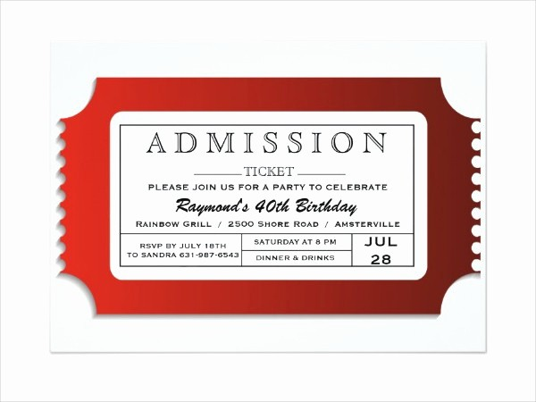 Free Printable Admission Ticket Template Inspirational 8 Admission Ticket Templates Free Psd Ai Vector Eps