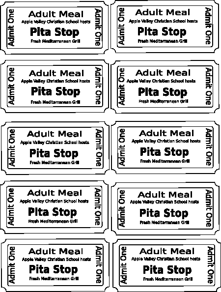Free Printable Admission Ticket Template Luxury Harvest Festival Food Tickets Clip Art at Clker