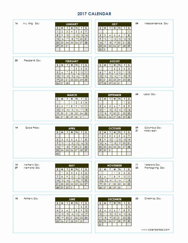 Free Printable Annual Calendar 2017 Best Of 2017 Yearly Calendar Template Vertical 04 Free Printable