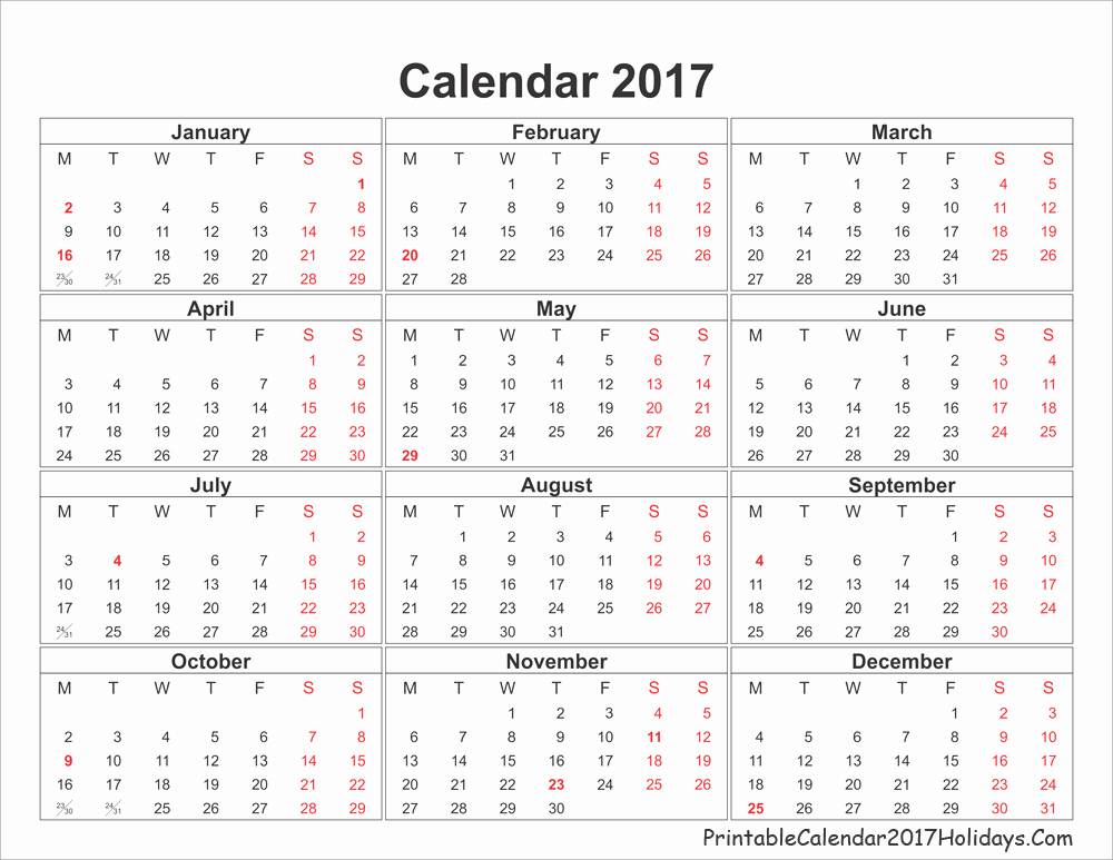 Free Printable Annual Calendar 2017 Best Of Annual Calendar 2017 Printable Calendar Template 2018