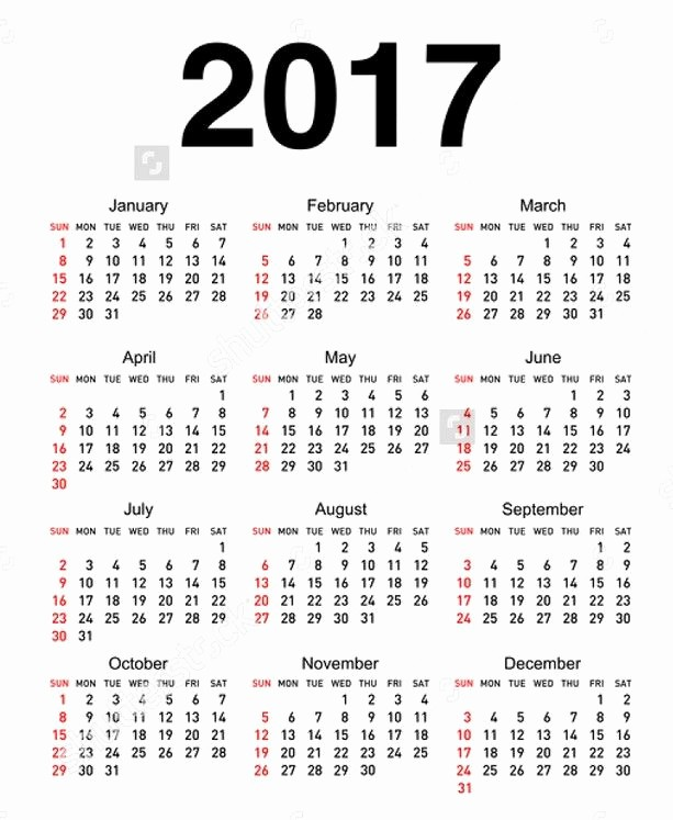 Free Printable Annual Calendar 2017 Elegant Best 25 2017 Yearly Calendar Printable Ideas On Pinterest