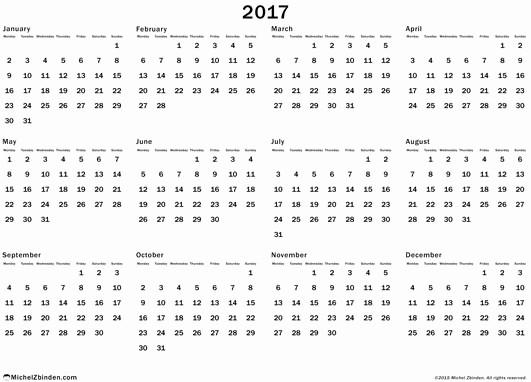 Free Printable Annual Calendar 2017 Elegant Printable Calendar 2018 2018 Printable Calendar Blank