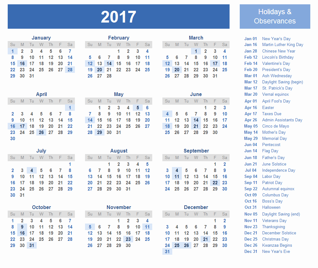 Free Printable Annual Calendar 2017 Inspirational Free Printable Calendar Templates 2017