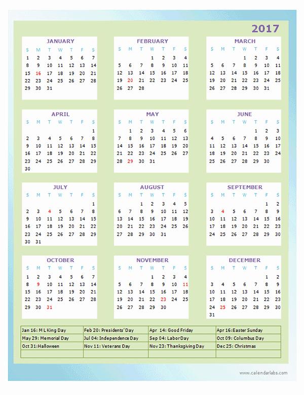 Free Printable Annual Calendar 2017 Luxury 2017 Annual Calendar Design Template Free Printable