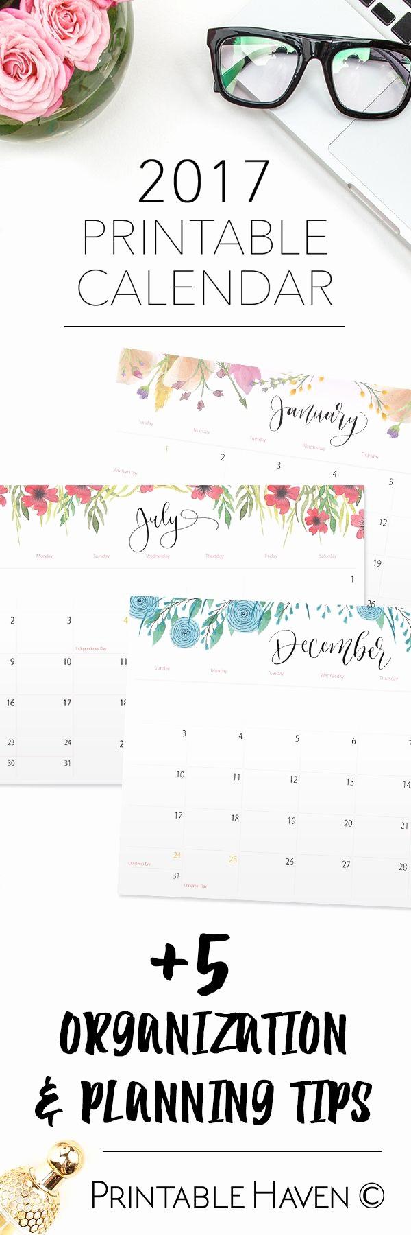 Free Printable Annual Calendar 2017 Unique 25 Best Ideas About 2017 Calendar Printable On Pinterest