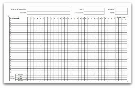 Free Printable attendance Calendar 2016 Beautiful Printable attendance Calendars