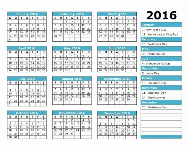 Free Printable attendance Calendar 2016 Fresh Employee attendance Calendar