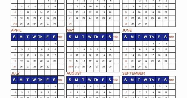 Free Printable attendance Calendar 2016 Lovely Free Printable Employee attendance Calendar Template 2016