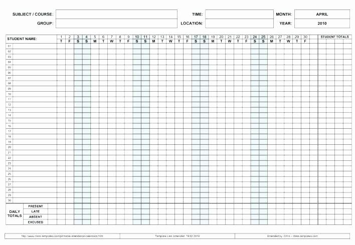 Free Printable attendance Calendar 2016 New Employee attendance Calendar Template Calendars Printable
