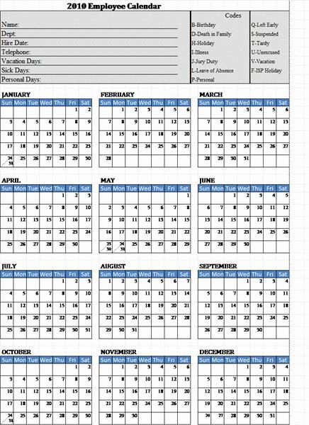 Free Printable attendance Calendar 2016 Unique 2013 Employee attendance Calendar Template