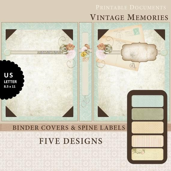 Free Printable Binder Spine Labels Awesome Items Similar to Printable Binder Covers & Spine Label