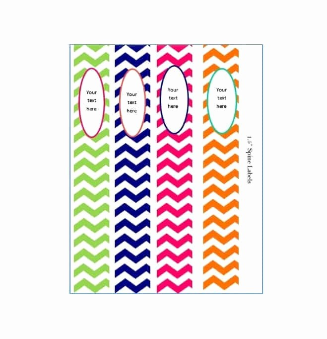 Free Printable Binder Spine Labels Beautiful 40 Binder Spine Label Templates In Word format Template