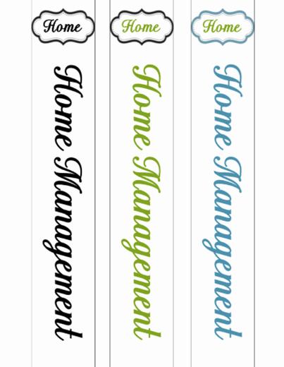 Free Printable Binder Spine Labels Best Of 31 Days Of Home Management Binder Printables Day 1 the