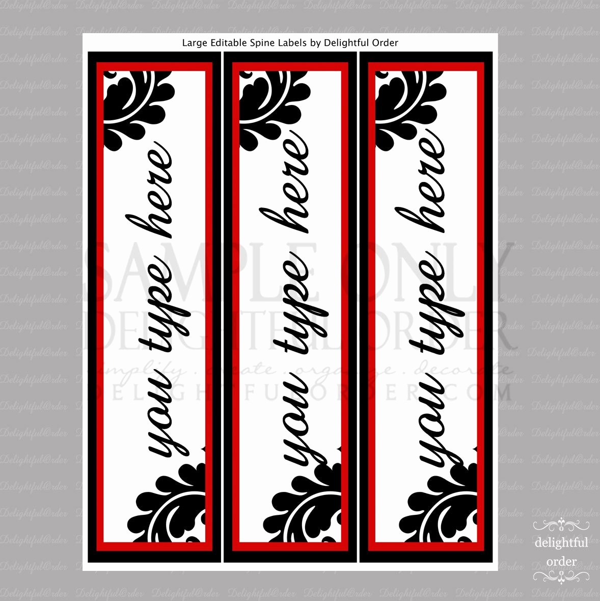 Free Printable Binder Spine Labels Best Of Editable and Printable Spine Labels Instant Digital