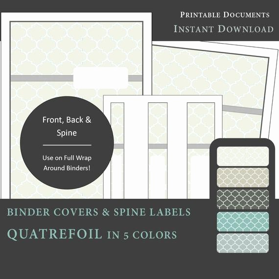 Free Printable Binder Spine Labels Best Of Printable Binder Covers & Spine Label Inserts Quatrefoil