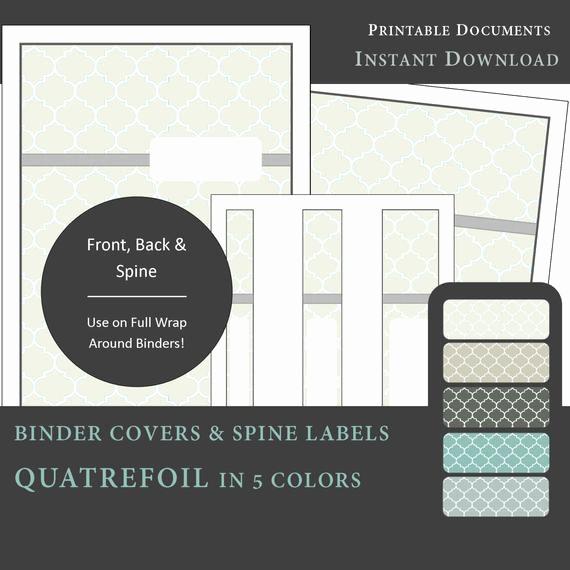 Free Printable Binder Spine Labels Best Of Printable Binder Covers & Spine Label Inserts Quatrefoil
