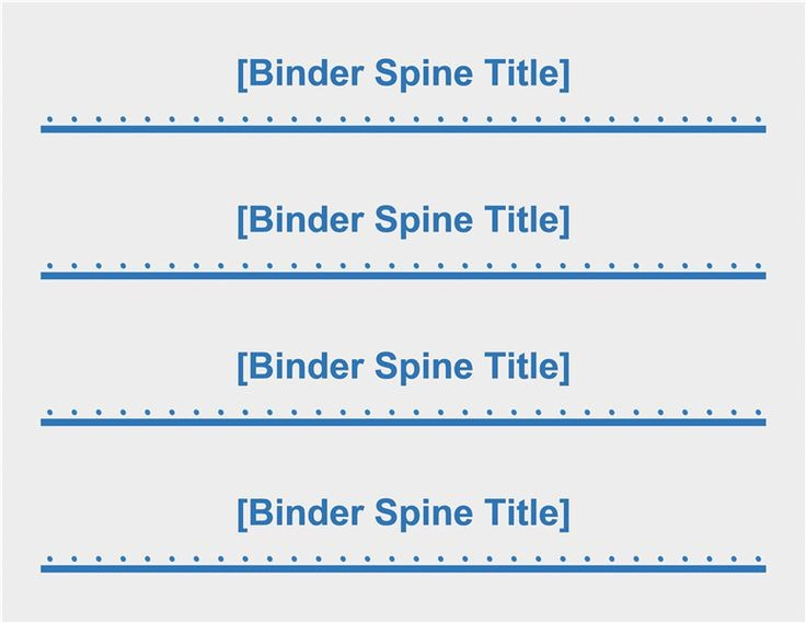 "Free Printable Binder Spine Labels Elegant 2"" Binder Spine Inserts 4 Per Page Templates"