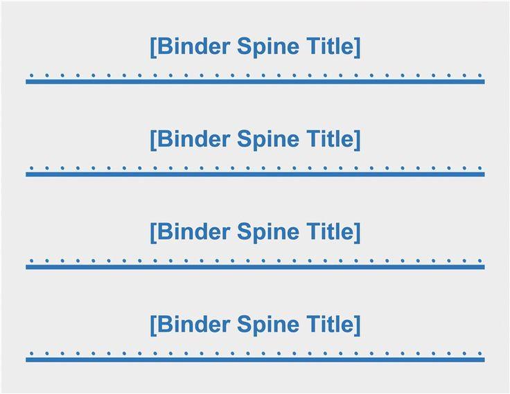 """Free Printable Binder Spine Labels Elegant 2"""" Binder Spine Inserts 4 Per Page Templates"""