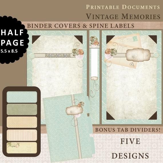 Free Printable Binder Spine Labels Elegant Half Page Printable Binder Covers Spine Labels & Tabbed