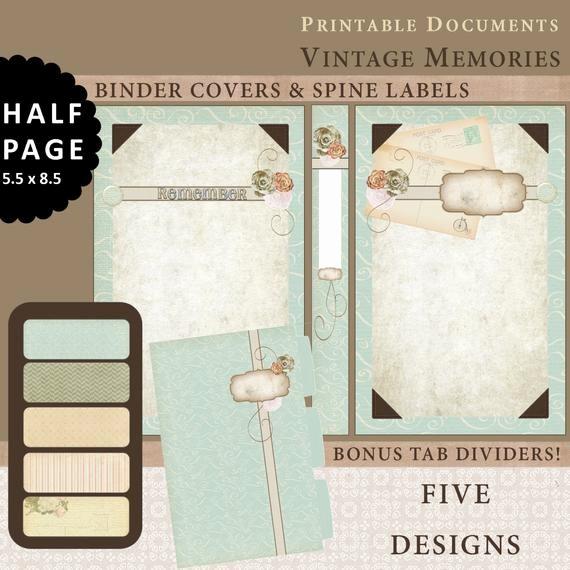 Free Printable Binder Spine Labels Elegant Half Page Printable Binder Covers Spine Labels & Tabbed