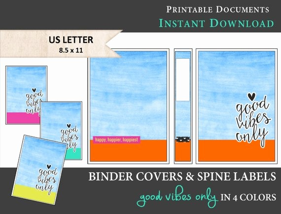 Free Printable Binder Spine Labels Luxury Items Similar to Printable Binder Covers & Spine Label