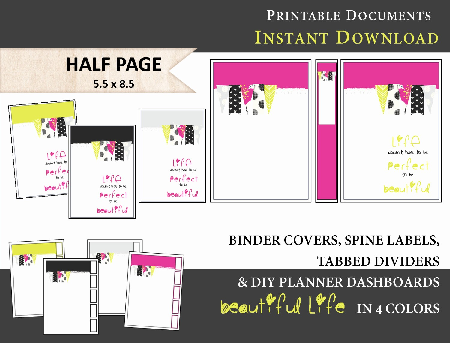 Free Printable Binder Spine Labels New Printable Binder Covers Spine Label Inserts by