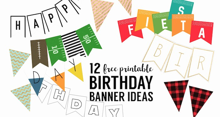 Free Printable Birthday Banner Templates Awesome Free Printable Birthday Banner Ideas Paper Trail Design