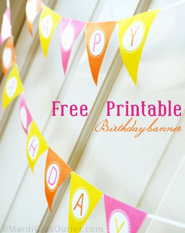 Free Printable Birthday Banner Templates Beautiful 15 Free Birthday Printables I Heart Nap Time