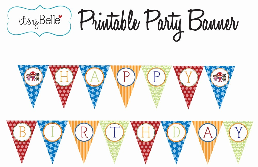 Free Printable Birthday Banner Templates Best Of 9 Best Of Free Superman Printable Birthday Banners